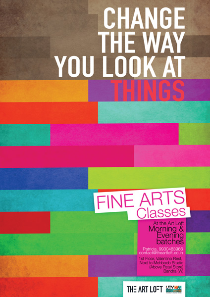 Fine Art Classes Poster