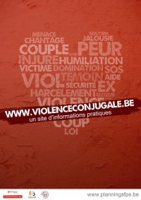 Violence conjugale.: Poster for the campaign against domestic violence.