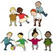 European children: Illustration for ECOG: European Childhood Obesity Group