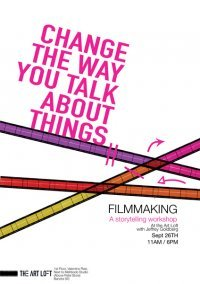 "Movie workshop poster.: Directed to ""the art loft art school in Bombay"